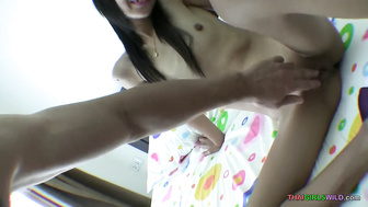 Skinny teen Asian girl blows nicely before getting fucked