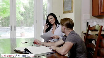 Naughty America - Jasmine Jae Fucks her son's friend in the kitchen