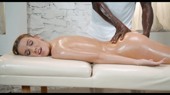 HOT MASSAGE SURPRISE DONE WITH A HUGE BLACK DICK