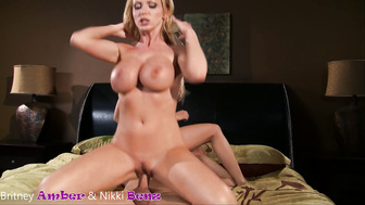 Blonde Bimbo Threesomes - A Reverse Cowgirl Cumpilation (with Cumshots)