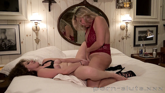 Lustful MILF Fucked Painfully with Dildo By Heather C Payne's Nanny