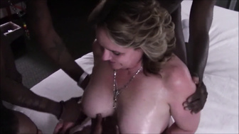 Black Cock Gangbang for White Wife