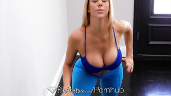 PureMature After bath fuck and facial with mature blonde Alexis Fawx
