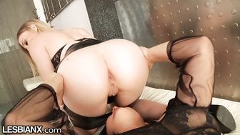 LesbianX Blair Williams Gets Strap-On Anal Fucked Good & Deep