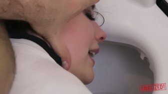 CHANEL PRESTON IS A SCHOOLGIRL ANAL WHORE THAT GETS BENT OVER ON THE TOILET