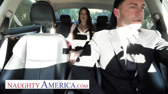 Naughty America - driver gets lucky with Bianca Burke