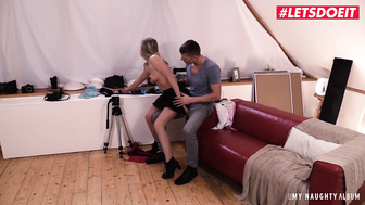 LETSDOEIT - Skinny Blonde Bitch Sucks and Fucks Her Photographer