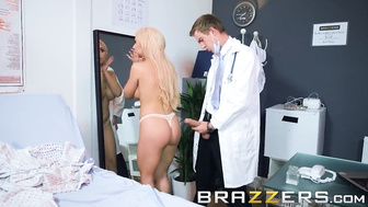 Busty Blonde Patient Gets A Special Facial - Brazzers