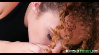 Curly Haired Teen Eli Luxx Has New Braces Fucked By Stranger